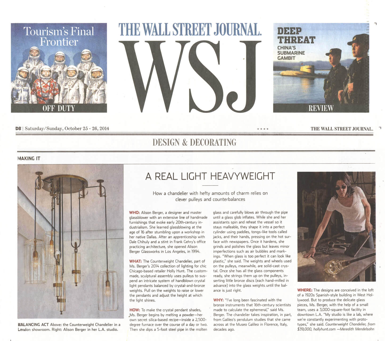 Wall Street Journal, October 2014