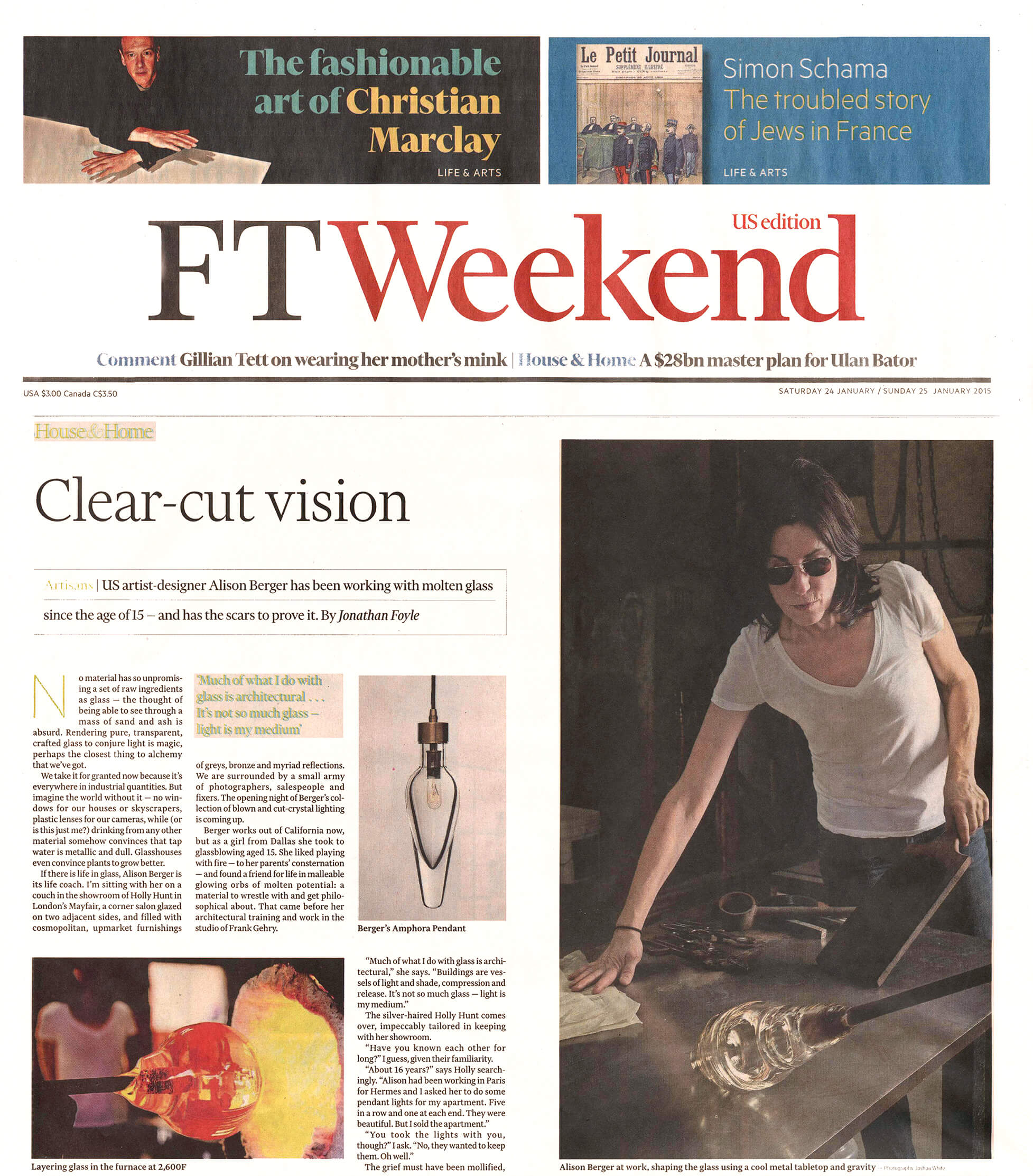 Financial Times Weekend, January 2015